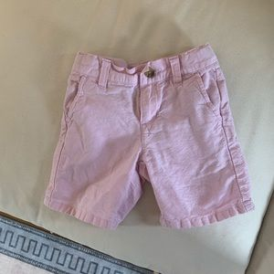 Janie and Jack pink linen shorts